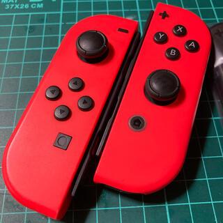 Nintendo Switch - ジョイコン  ★ネオンレッド★ ストラップ付き‼️ 作動品