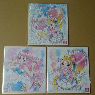 トロピカル~ジュ!プリキュア キュアサマー&ローラ 3枚 プリキュア色紙art4