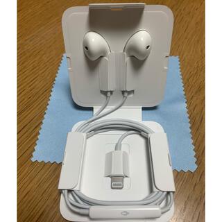 アップル(Apple)のApple iPhone 純正 イヤフォン 正規品(ストラップ/イヤホンジャック)