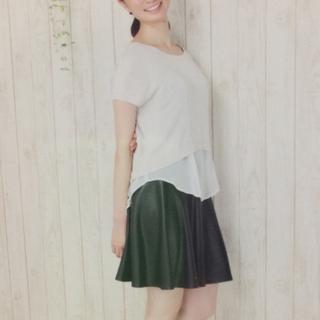 ロートレアモン(LAUTREAMONT)のフェイクレザースカート(ひざ丈スカート)