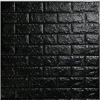 壁紙シール レンガ風 ブラック diy