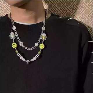 パンク スマイル ダイス サイコロ ネックレス 韓国ファッション