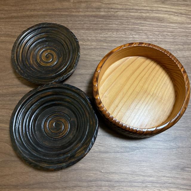 木製 菓子器 3点セット 大蔵木工所 インテリア/住まい/日用品のキッチン/食器(食器)の商品写真