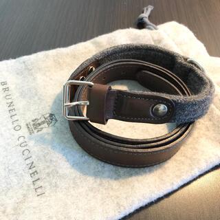 ブルネロクチネリ(BRUNELLO CUCINELLI)の美品 ブルネロクチネリ 本革 ベルト 73〜85cm(ベルト)