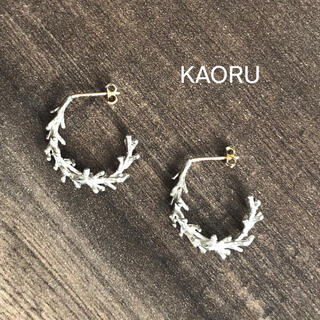 KAORU - KAORU フープ ピアス シルバー K18