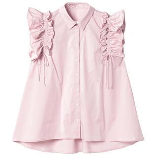 eimy istoire - ★ ギャザーフリルスリーブシャツ PINK