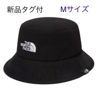 THE NORTH FACE - 新品タグ付 Mサイズ ノースフェイス  バケットハット 刺繍ロゴ 黒