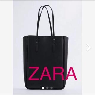 ZARA - 長方形 リアルレザー トートバッグ  ZARA レザー 革