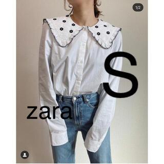 ZARA - ZARA エンブロイダリー ポプリントップス S