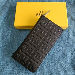 FENDI - メンズさいふ❣fendi 長財布 小銭入れ 黒