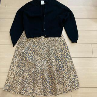 Drawer - Drawer 上品なレオパードプリーツスカート