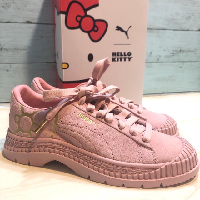 PUMA(プーマ)の新品 プーマ HELLO KITTY レディーススニーカー ピンク ハローキティ レディースの靴/シューズ(スニーカー)の商品写真