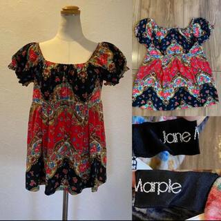 ジェーンマープル(JaneMarple)のJane Marple ジェーンマープル チロリアン風 トップス 半袖 M(Tシャツ(半袖/袖なし))