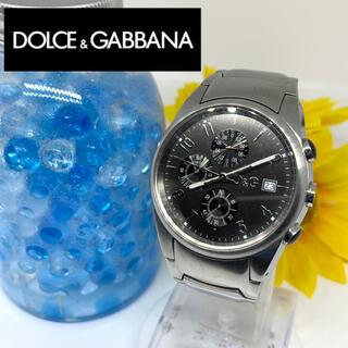 ドルチェアンドガッバーナ(DOLCE&GABBANA)のドルガバ メンズ腕時計 クロノグラフ デイト入り 新品電池です☆(腕時計(アナログ))