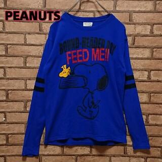 ピーナッツ(PEANUTS)のPEANUTS ピーナッツ メンズ スヌーピー プリント 長袖 カットソー(Tシャツ/カットソー(七分/長袖))