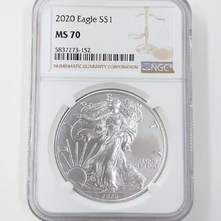 【2020 MS70】シルバー イーグル銀貨 未使用 NGC 純銀