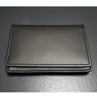 MUJI (無印良品) - 無印良品 イタリア産 ヌメ革 カードケース 黒