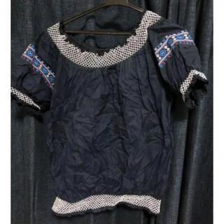 イーハイフンワールドギャラリー(E hyphen world gallery)のトップス 半袖 刺繍 ブラウス(シャツ/ブラウス(半袖/袖なし))