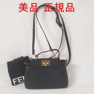 FENDI - 【美品】フェンディ マイクロ ピーカーブー ショルダーバッグ レザー ブラック