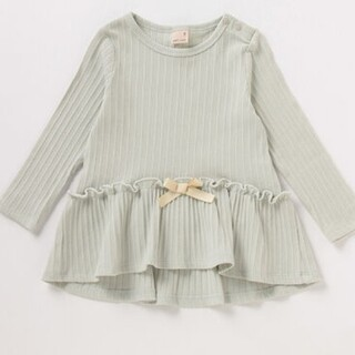 petit main - 新品 プティマイン リボンつきフレアテレコTシャツ110