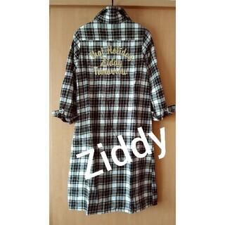 ZIDDY - Ziddy☆チェックロングシャツワンピース150160