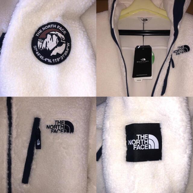 THE NORTH FACE(ザノースフェイス)の新品 THE NORTH FACE ボア ホワイト リモフリース Lサイズ メンズのジャケット/アウター(ブルゾン)の商品写真