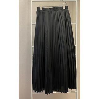 GU - 黒 プリーツスカート サテン GU プリーツロングスカートNC