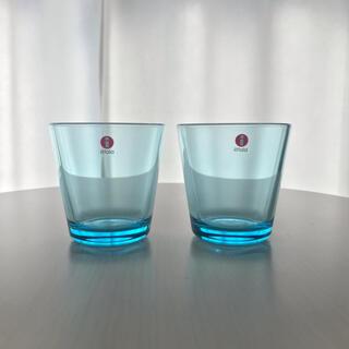 イッタラ(iittala)のイッタラ カルティオ ライトブルー 2個セット(グラス/カップ)