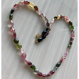 k18色石ネックレス