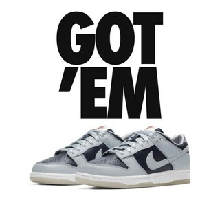 NIKE - NIKE ダンクLOW College Navy  24.5cm