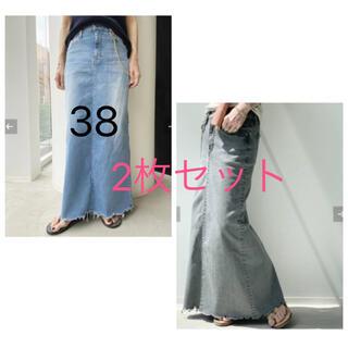 L'Appartement DEUXIEME CLASSE - 未使用 L'Appartement GOOD GRIEF スカート 38 2枚