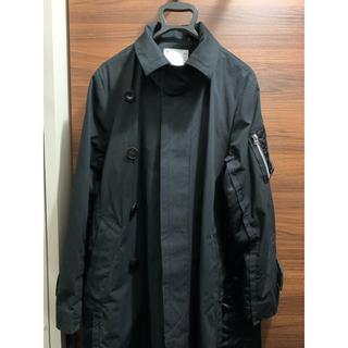 サカイ(sacai)のsacai  名古屋店OPEN記念 限定コート ブラック(ステンカラーコート)