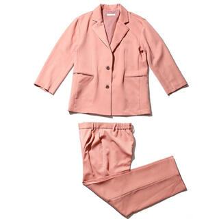 SPINNS - spinns ジャケット パンツ ピンク セットアップ