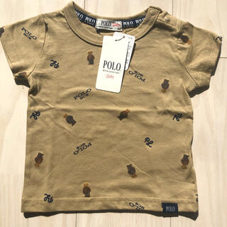ポロラルフローレン(POLO RALPH LAUREN)のバースデー ポロベア 総柄Tシャツ 80(Tシャツ)
