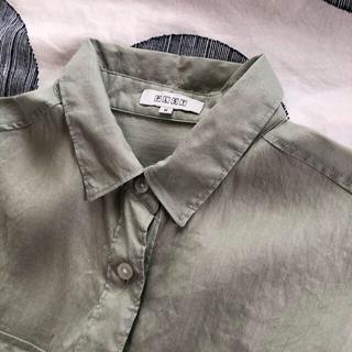 プラステ(PLST)のプラステの麻混シャツ/ペールグリーン(シャツ/ブラウス(長袖/七分))