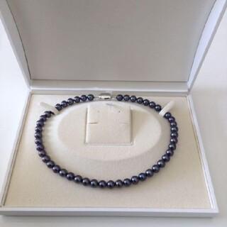 ☆極美品★ブラックあこや真珠ネックレス