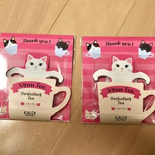 カルディ(KALDI)の【数量限定】            KALDI  ニャンティ 3P 2つセット♡(茶)