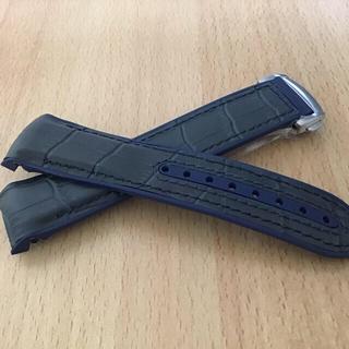 腕時計ベルト ネイビー21mm