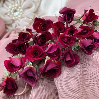大容量!ミニ薔薇(茎長め)ドライフラワー★25輪セット+おまけ2輪付き★花材(ドライフラワー)