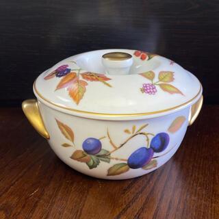 ロイヤルウースター(Royal Worcester)のロイヤルウースター  イブシャム ゴールド キャセロール ヴィンテージ  美品(食器)