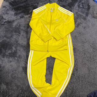 adidas - adidas100サイズ ジャージセット黄色