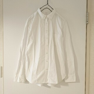 MUJI (無印良品) - 無印良品 / 長袖 シャツ 綿100% ホワイト Lサイズ 無地