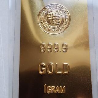安心の品質保証。24金 9999 GOLD カード。徳力本店 1グラムの幸福
