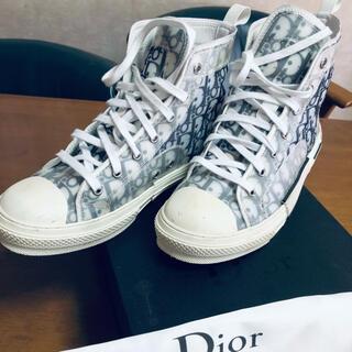 Dior - Dior オブリーク キャンバスハイカットスニーカー