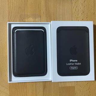 Apple - 【未使用】純正 iPhone12 MagSafe レザーウォレット ブラック