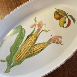 ロイヤルウースター(Royal Worcester)のロイヤルウースター  イブシャム  ゴールドエッジ 楕円プレート 大皿(食器)
