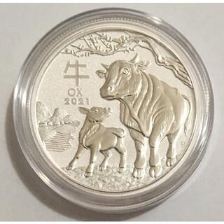 オーストラリア干支コイン 牛 1/2オンス銀貨(地金型)