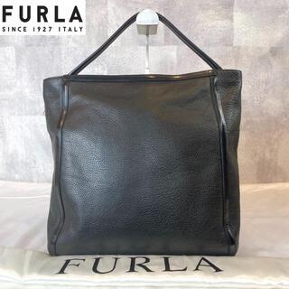Furla - 【FURLA】フルラ ハンド ショルダーバッグ  黒 ブラック レザー