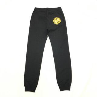 ヴェルサーチ(VERSACE)の新品 ヴェルサーチ ロゴ 刺しゅう スウェット パンツ ブラック(その他)