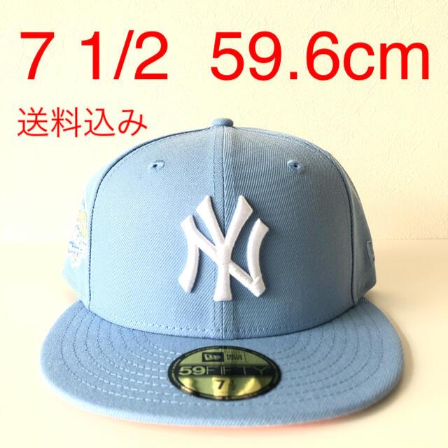 NEW ERA(ニューエラー)のNew Era ツバ裏ピンク Cap 1/2 ニューエラ ヤンキース キャップ メンズの帽子(キャップ)の商品写真